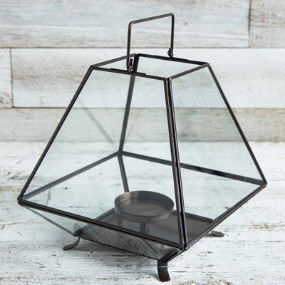 Oh Gussie! Iron and Glass Pillar Candle Holder