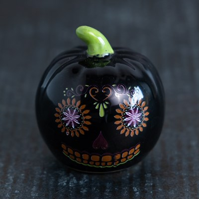 Mini Sugar Skull Pumpkin Pepper Shaker
