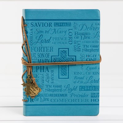 Cross Charm Leatherette Journal