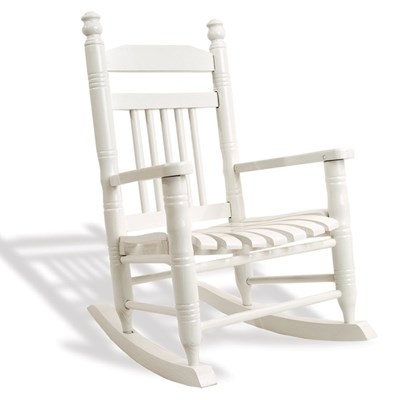 Slat Child Rocking Chair - Pure White