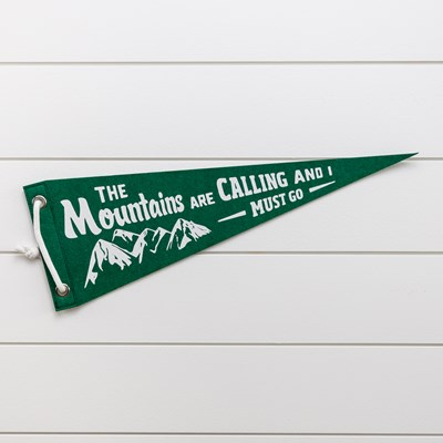 Felt Pennant Decor - Green