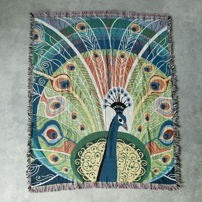 Peacock Woven Throw