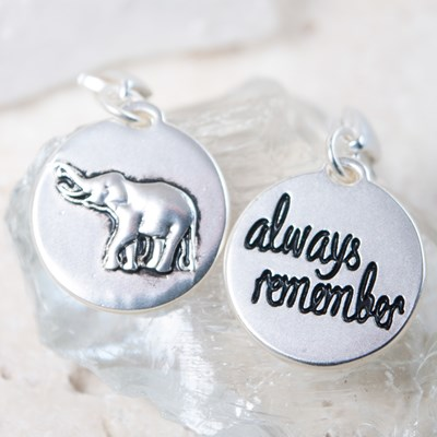 """Always Remember"" Elephant Charm"