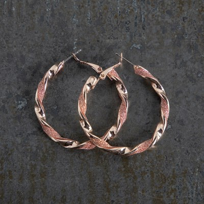 Rose Gold Paper Hoop Earrings