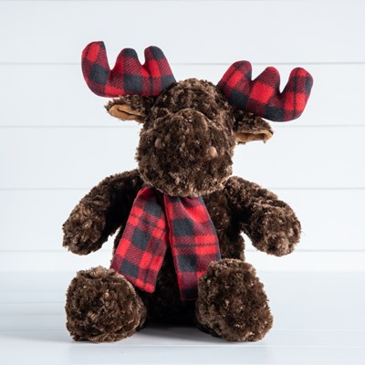 Moose with Antlers Plush
