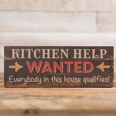 """Kitchen Help Wanted"" Sign"