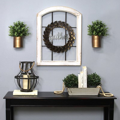 Decorative Window & Wreath Wall Decor