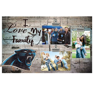 Carolina Panthers - I Love My Family Clip Frame