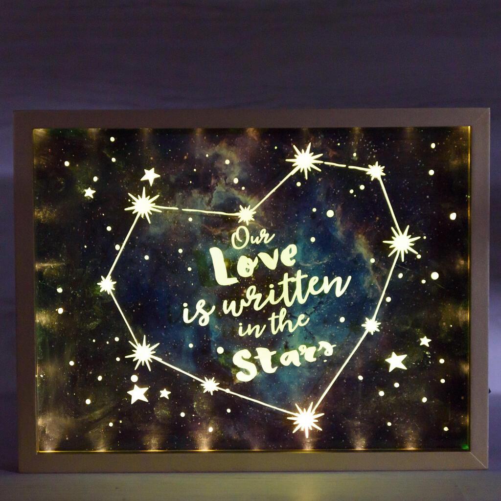 Written In The Stars Light Up Wall Decor