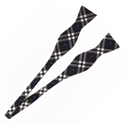 Woven Bow Tie - Carolina Panthers