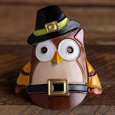 Owl Tin Napkin Ring