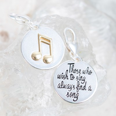 """Those Who Wish To Sing"" Music Note Charm"