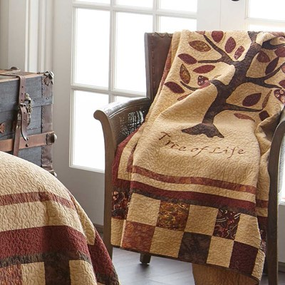 Autumn Tree of Life Throw by Donna Sharp