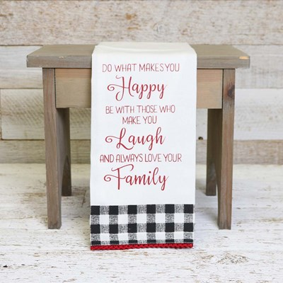 Happy Laugh Family Kitchen Towel