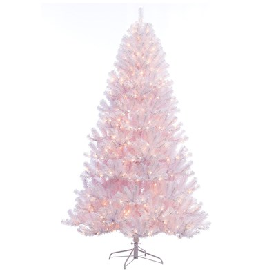 7.5' Pre-Lit Noble White Christmas Tree