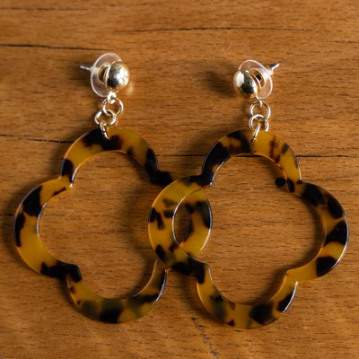 Tort Clover Earrings