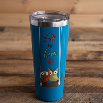 """Fall in Love"" Owl 32oz. Tumbler"