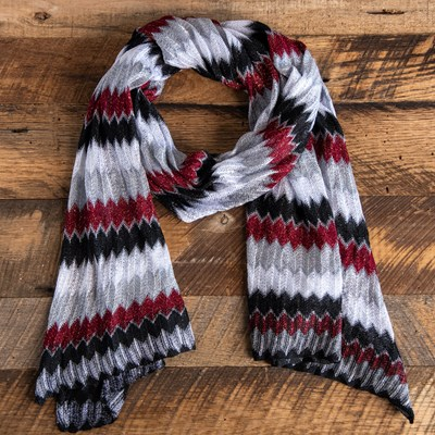 Black Chevron Oblong Scarf
