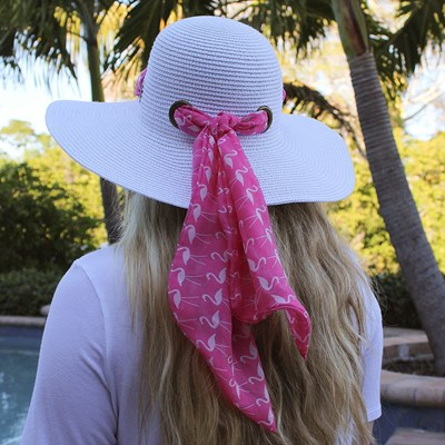2-in-1 Flamingo Scarf Hat
