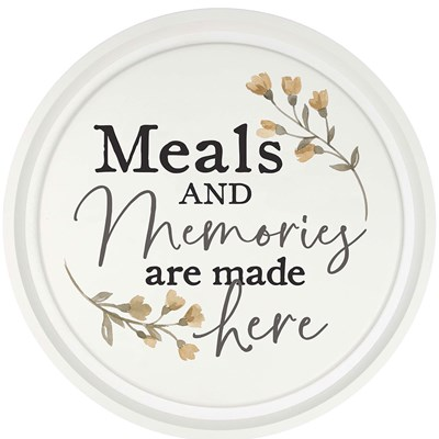 """Meals and Memories"" Circle Sign"
