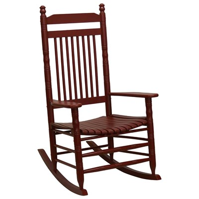 Slat Rocking Chair - Red