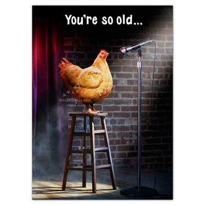 Stage Chicken Greeting Card