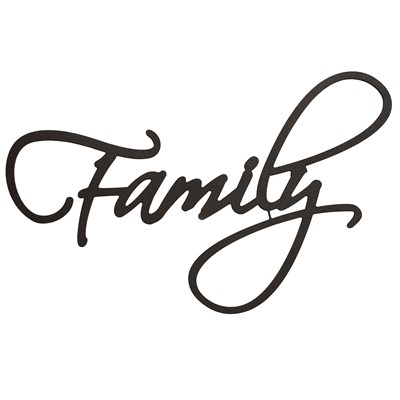 """Family"" Typography Wall Decor"
