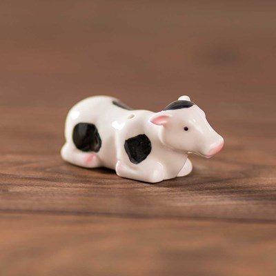Mini Cow Laying Salt Shaker