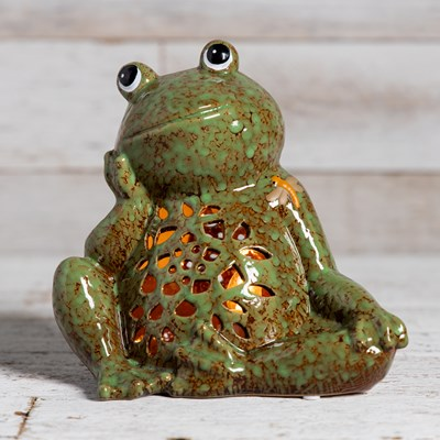 Stoneware Frog Accent Light