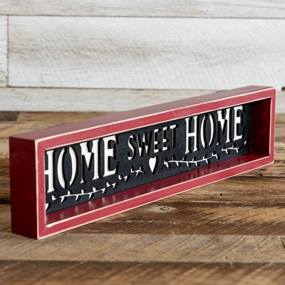 Wooden Home Sweet Home Wall Decor