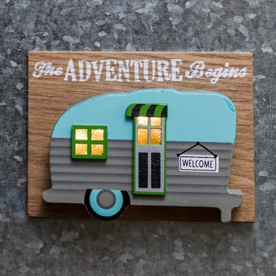 Light-Up Vintage Camper Magnet