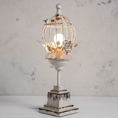 Metal Birdcage Table Lamp