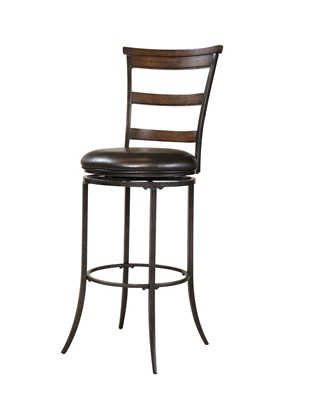 Cameron Swivel Ladderback Bar Stool
