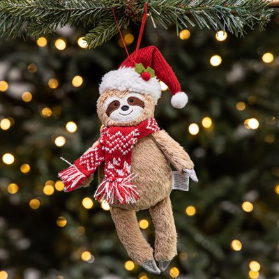 Fabric Sloth Ornament