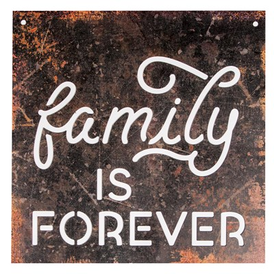 """Family Is Forever"" Silhouette Wall Sign"