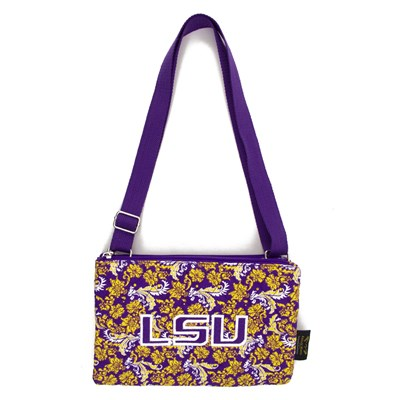 LSU - Cross Body Bloom Purse