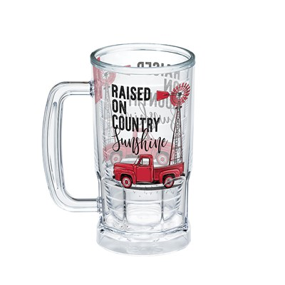 """Raised on Country Sunshine"" 16 Oz. Beer Mug"