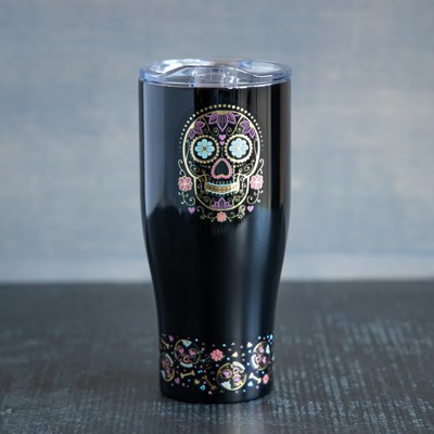 Sugar Skull Cat 30oz. Double-Wall Tumbler