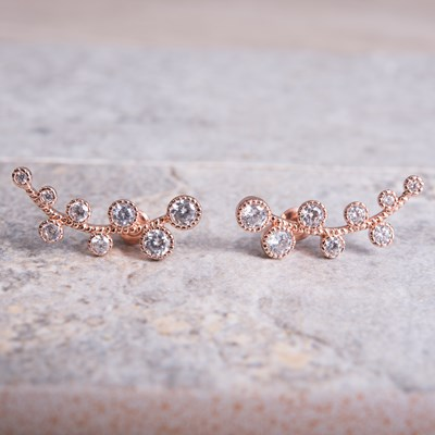 Rose Gold Crawler Vine Earring