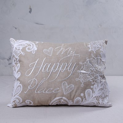 """My Happy Place"" Pillow"