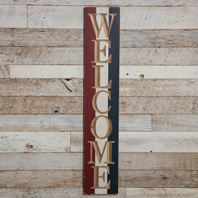 Americana Welcome Wood Wall Decor