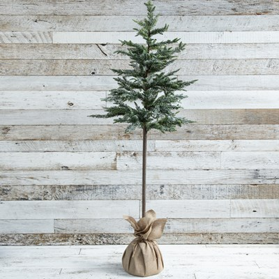 "Oh Gussie! 60"" Artificial Icy Pine Tree with Burlap Base"