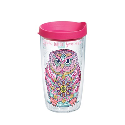 """Owl Whoo You Are"" 16 Oz. Tumbler"