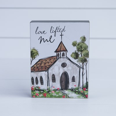 """Love Lifted Me"" Box Sign"