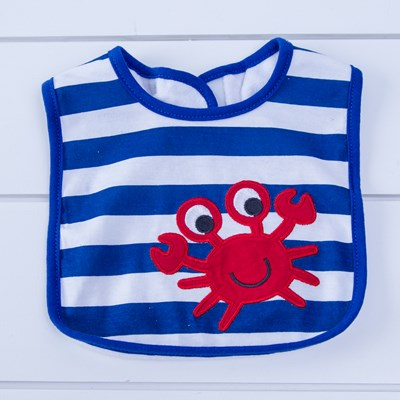 Crab and Stripe Bib