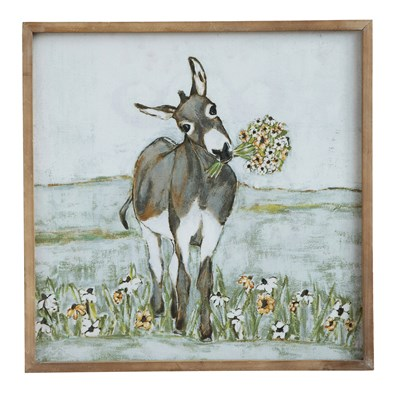 "20"" Square Donkey Canvas"