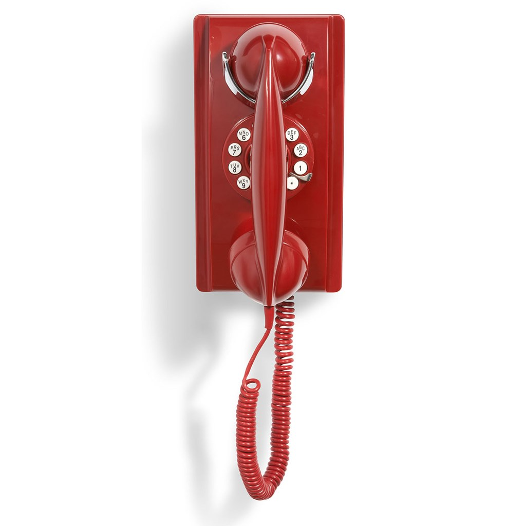 Crosley 302 Wall Phone Red