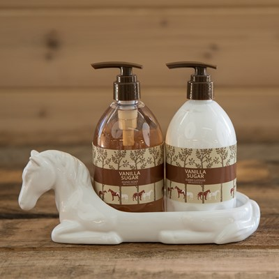 Ceramic Horse Soap Lotion Caddy