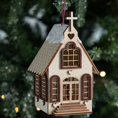 Little White Chapel Ornament