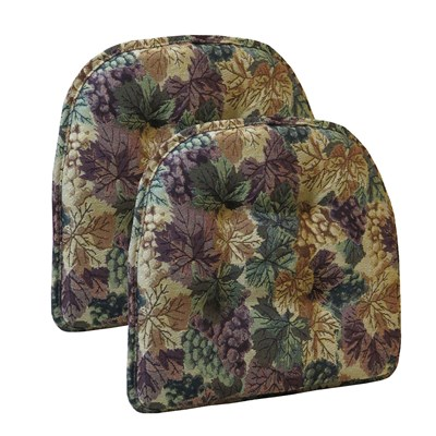 Cabernet Tufted Chair Cushion - 2 Pack